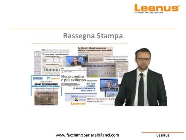 Leanuswww.facciamoparlareibilanci.com Rassegna Stampa