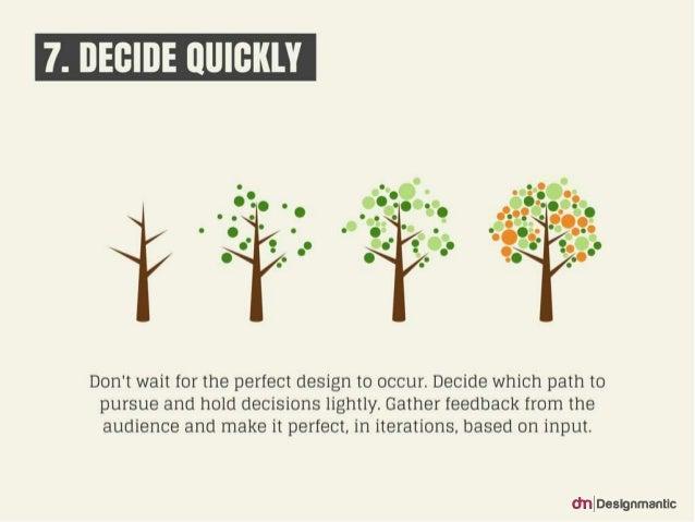 7. Decide Quickly