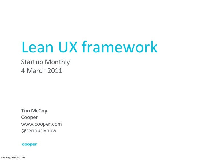Lean UX framework