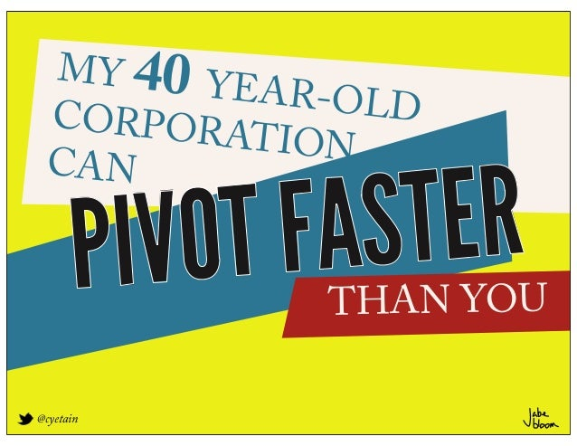MY 40 Y         EAR-OLD CORPORA          T ION CAN      PIVOT FAS TER             THAN YOU@cyetain