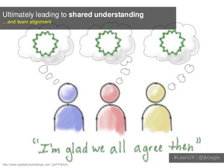 Ultimately leading to shared understanding…and team alignment                                                  #LeanUX | @...