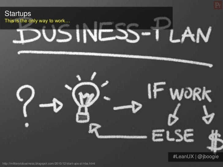 Startups This is the only way to work…                                                                       #LeanUX | @jb...