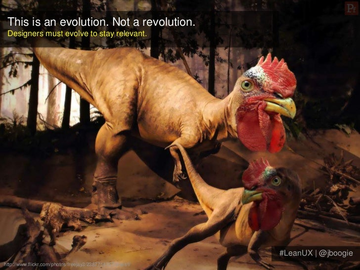 This is an evolution. Not a revolution. Designers must evolve to stay relevant.                                           ...