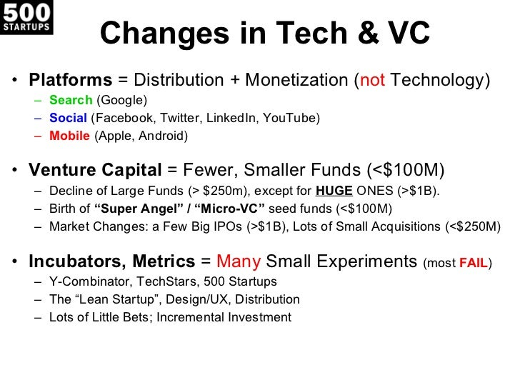 Silicon Valley 2.0: The Lean VC Slide 2