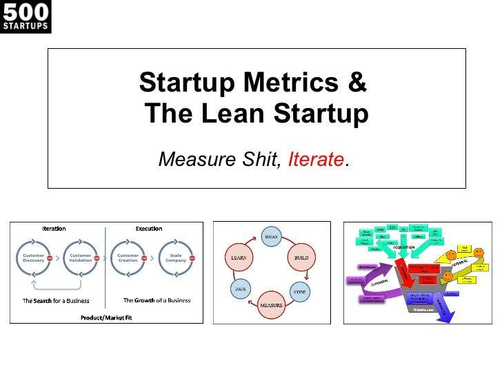 Startup Metrics &  The Lean Startup Measure Shit,  Iterate .