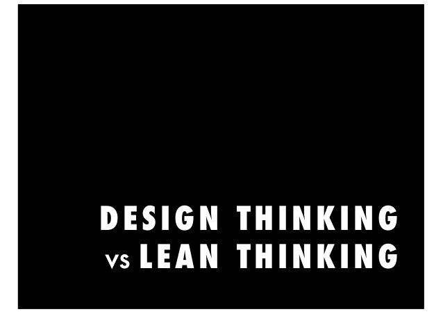 lean vs design thinking