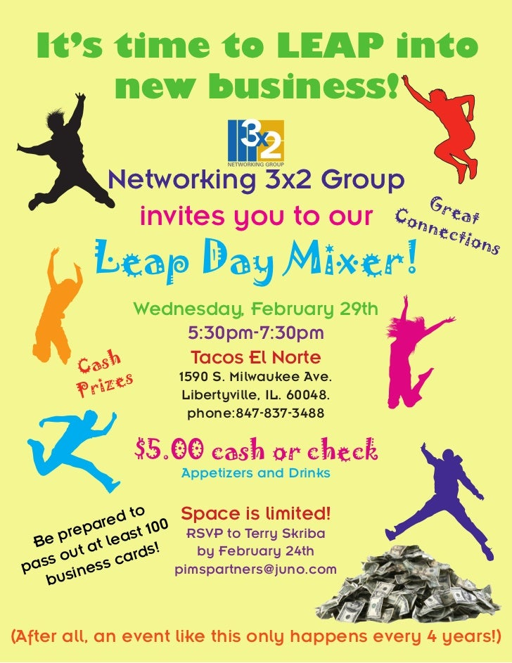 It's time to LEAP into       new business!            Networking 3x2 Group                                    G           ...