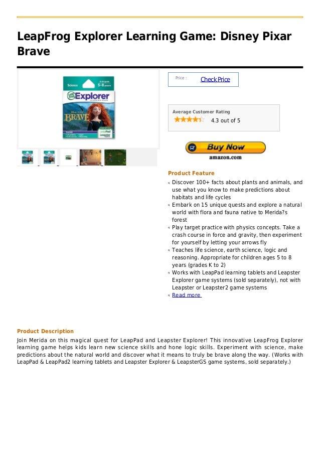 LeapFrog Explorer Learning Game: Disney PixarBrave                                                             Price :    ...