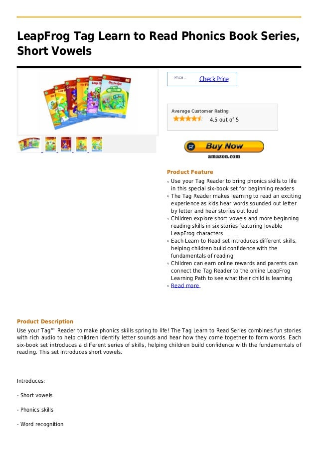 LeapFrog Tag Learn to Read Phonics Book Series,Short Vowels                                                               ...