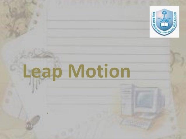 Leap Motion -