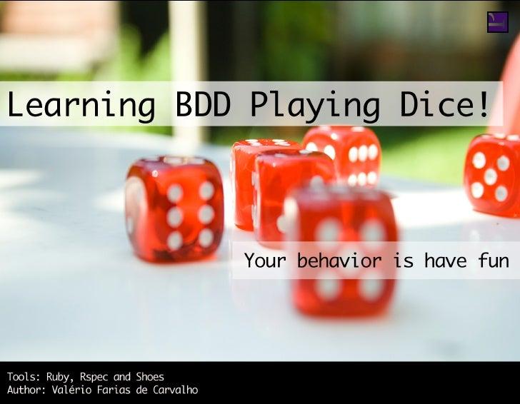 Learn bdd-playing-dice-book