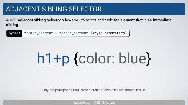 Combinators and selector lists - Learn web development   MDN