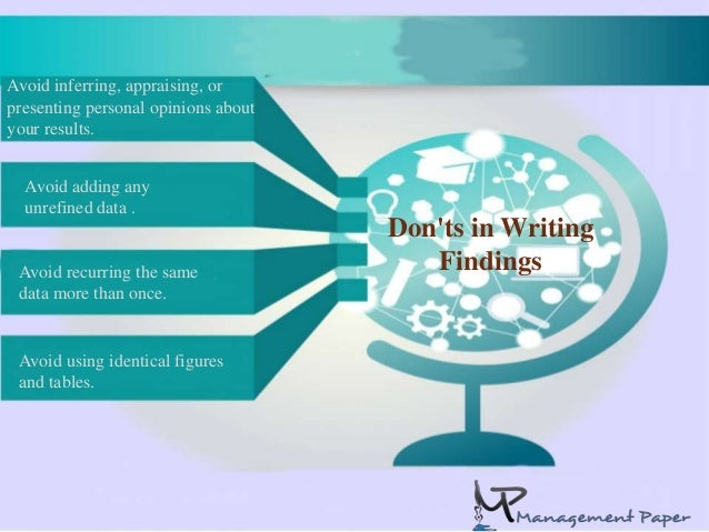 What are findings in a research paper