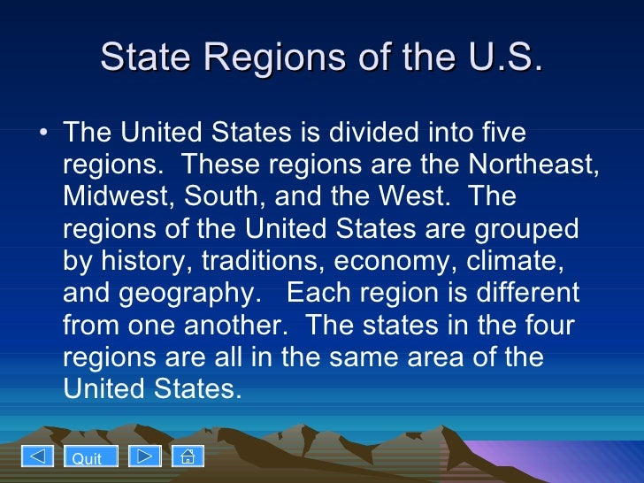 3 state regions of the us
