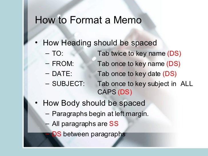 Learn To Format Memos  Email