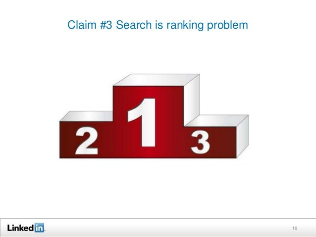 Claim #3 Search is ranking problem  16