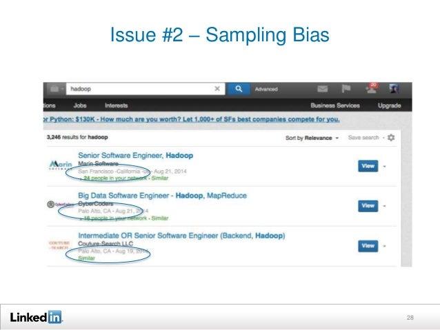 Issue #2 – Sampling Bias  28