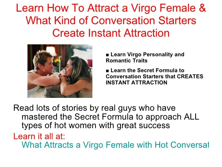 Attract a virgo woman