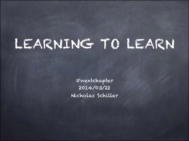LEARNING TO LEARN #nextchapter