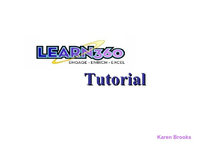 Tutorial Karen Brooks