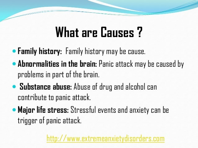 Characteristics causes and treatment of panic disorder
