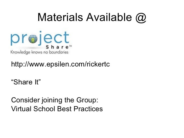 epsilen project share Of epsilen • learn how  what is project share project share is a new iniave that targets the following.