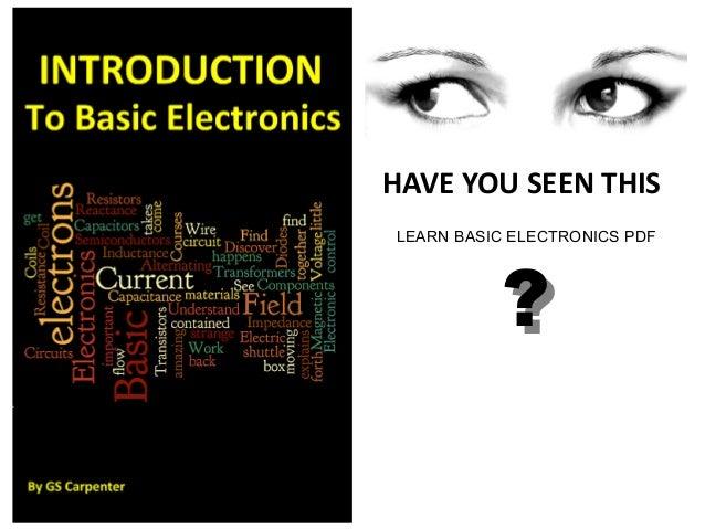 Learn Electronics Pdf