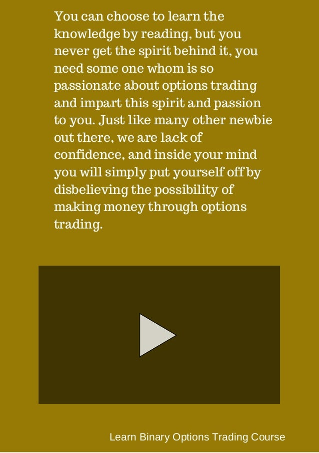 Learn binary options trading course scar sbr video betting