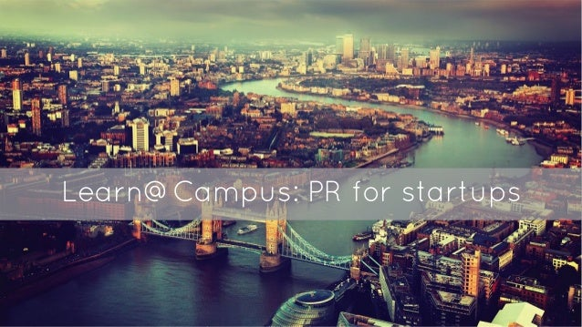 Learn@Campus: PR for startups