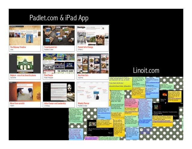 Linoit.com Padlet.com & iPad App