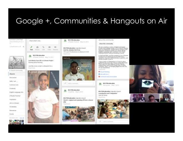 Google +, Communities & Hangouts on Air