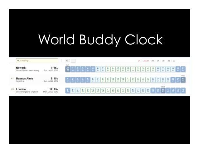 World Buddy Clock