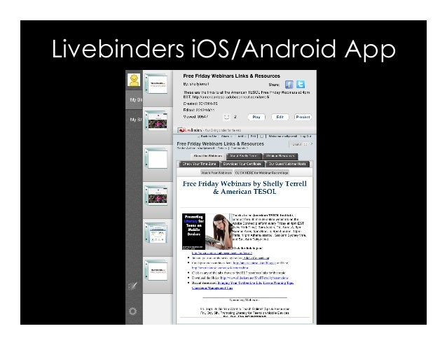 Livebinders iOS/Android App