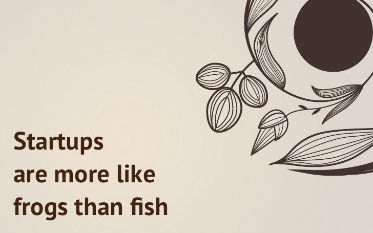 Startupsare more likefrogs than fish