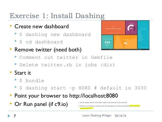 Learn Dashing Widget In 90 Minutes