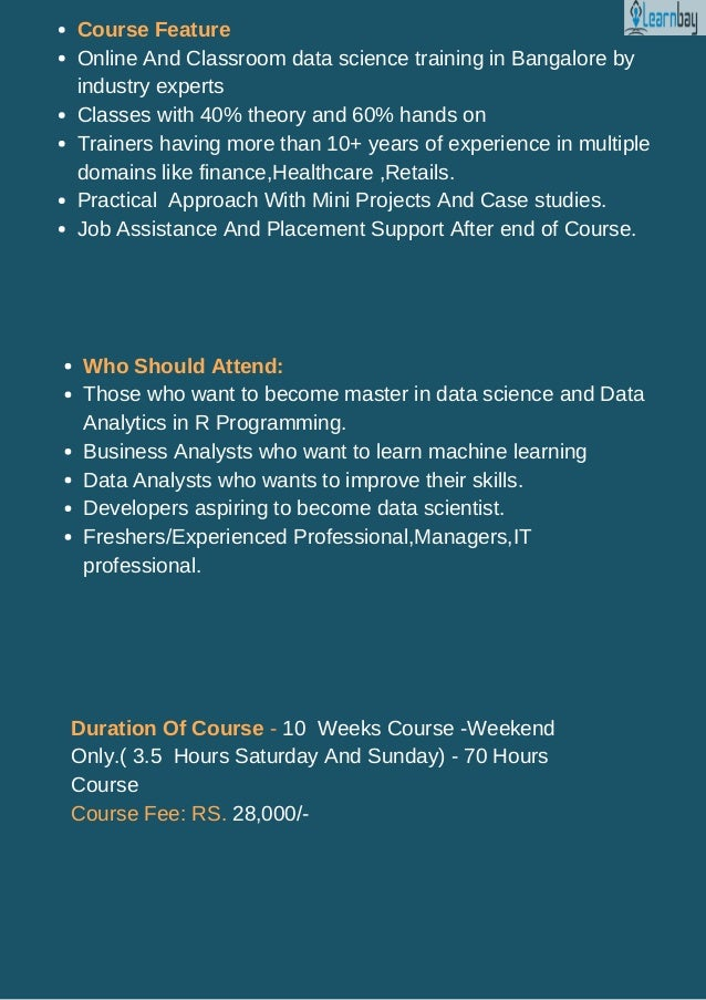 Data Science Training in Bangalore | Course Content