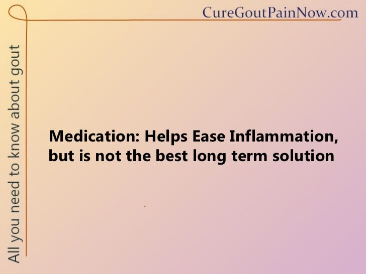 how to help gout pain