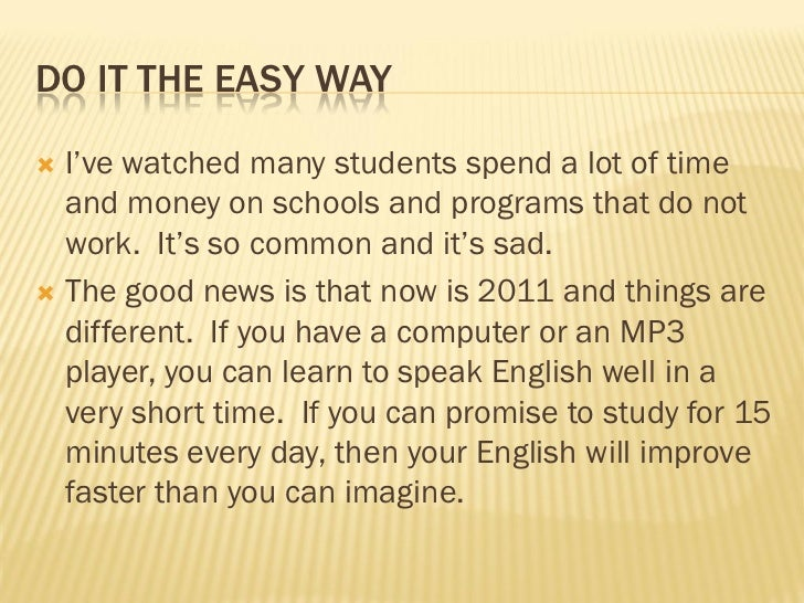 Learn english the easy way Slide 2
