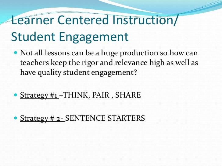 Learner Centered Instruction