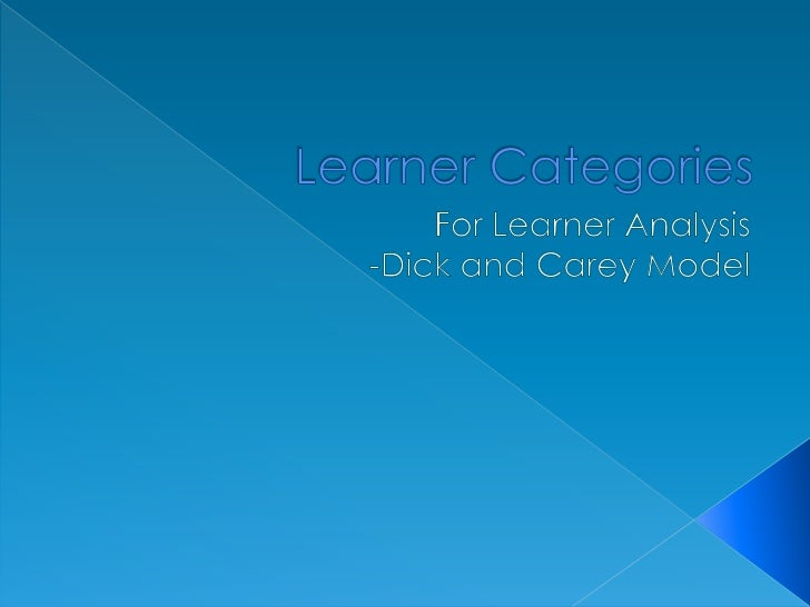    Entry Skills   Prior Knowledge of Topic Area   Attitudes toward Content and Potential    Delivery System   Academic...