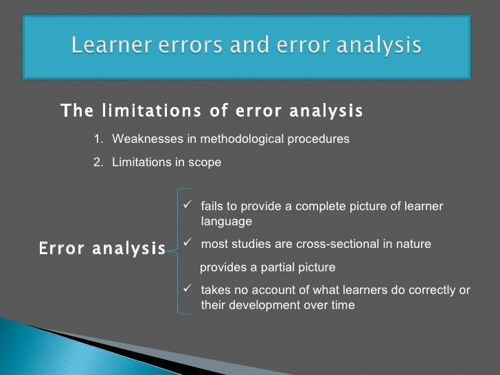 classification of errors in language learning
