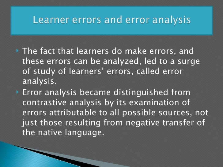 An analysis of the learner