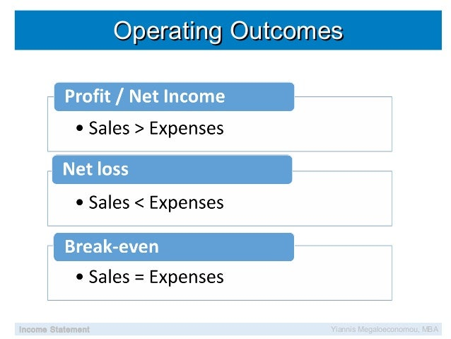 Learn from income statement