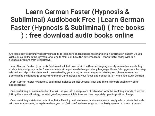 How to learn german language online free with audio