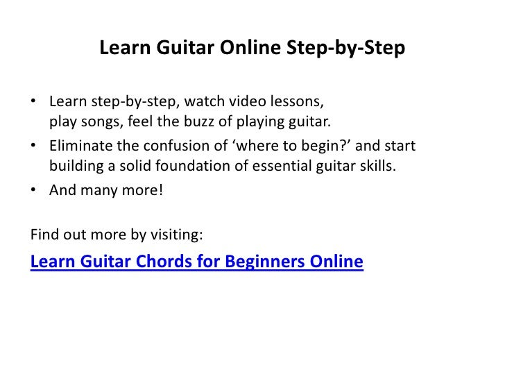 Learn guitar chords for beginners online