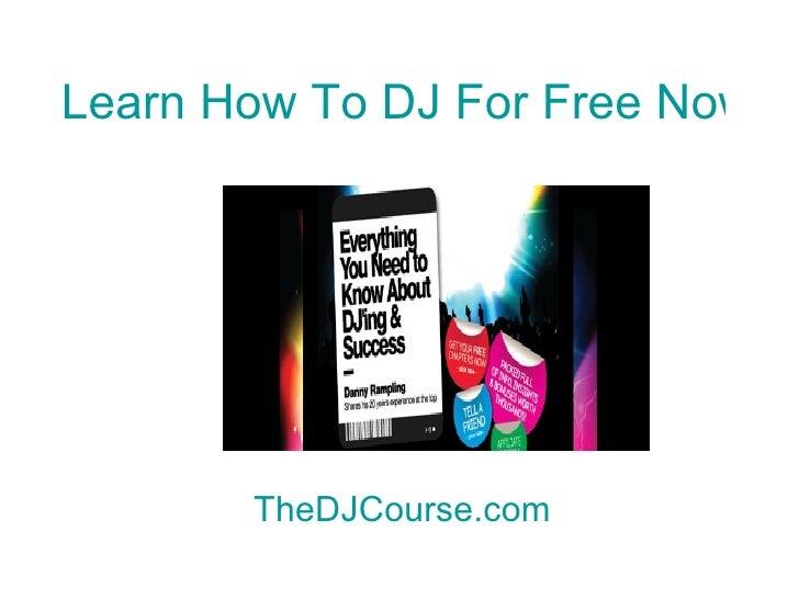 First 10 minutes on DJ Decks | Beginner DJ lessons .com ...