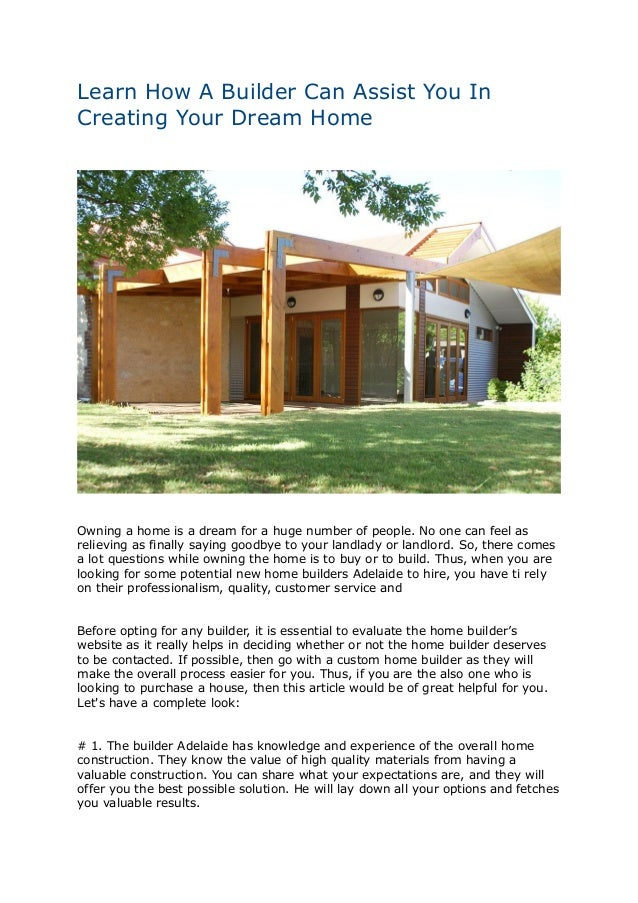 High Quality Learn How A Builder Can Assist You In Creating Your Dream Home Owning A Home  Is ...