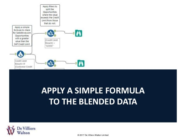 Learn how to blend data from Salesforce com and SAP in Alteryx