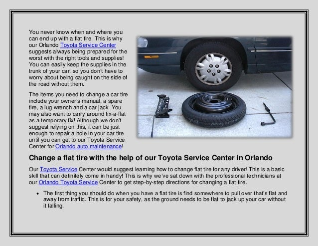 learn how to change a car tire with the help of toyota of orlando. Black Bedroom Furniture Sets. Home Design Ideas