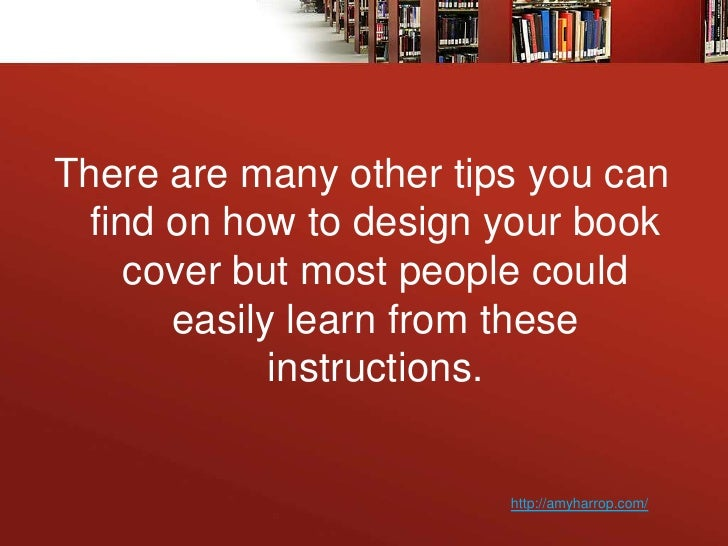 Design Your Book Cover ~ Learn how to design your book cover